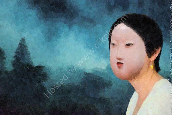 Girl with a peach earring 2