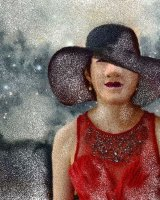 Lady with a brimmed hat 2