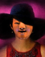 Lady with a brimmed hat 1