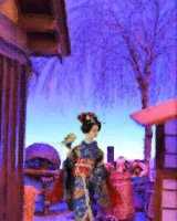 Maiko and kite