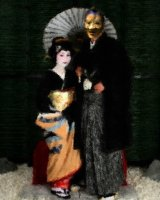 Mephistopheles and his fiancée