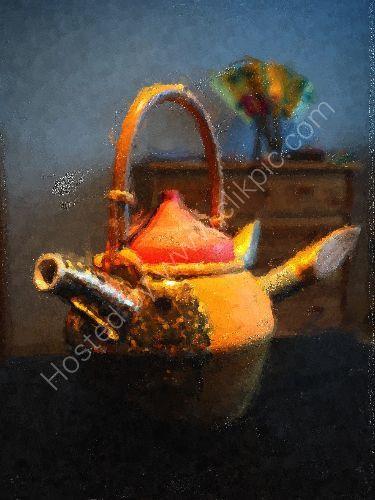 Teapot of a tender rounin 1
