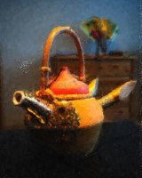 Teapot of a tender rounin 1