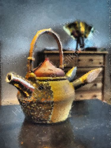 Teapot of a tender rounin 3