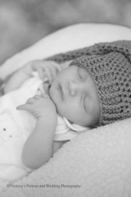 Newborn baby black and white