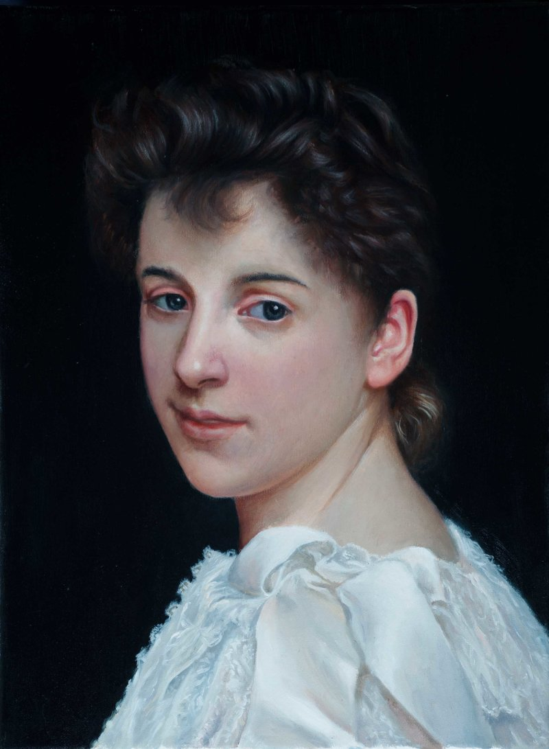 Copy of Portrait of Gabrielle Cot by Bouguereau