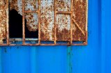 rust on blue