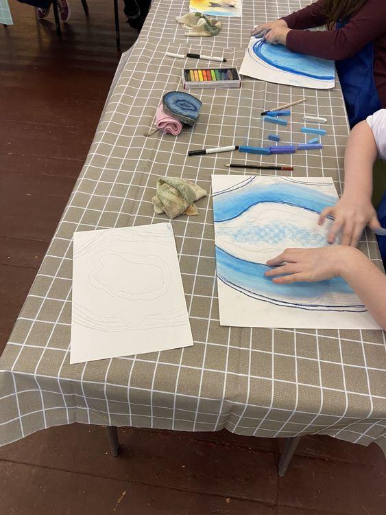 O'Keefe work in progress 1