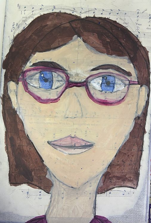 Expressive Self Portrait 5