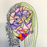 picasso inspired self portrait art club