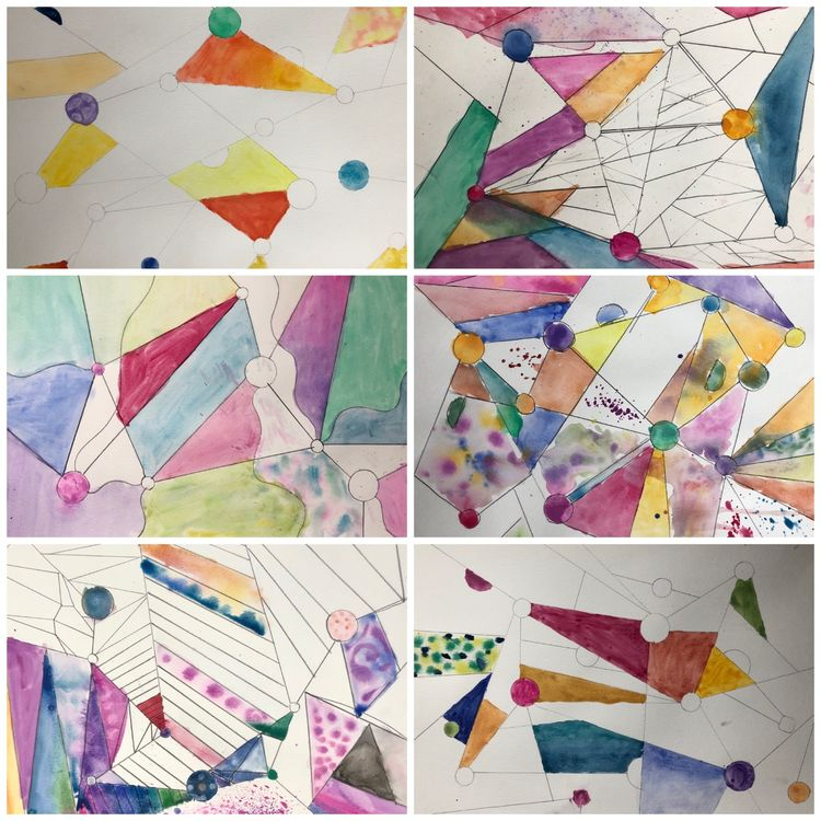 Kandinsky watercolour collage