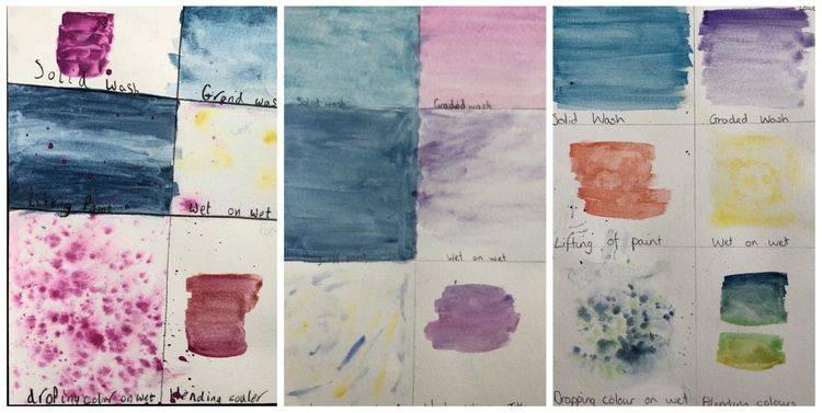 Kandinsky watercolour swatches