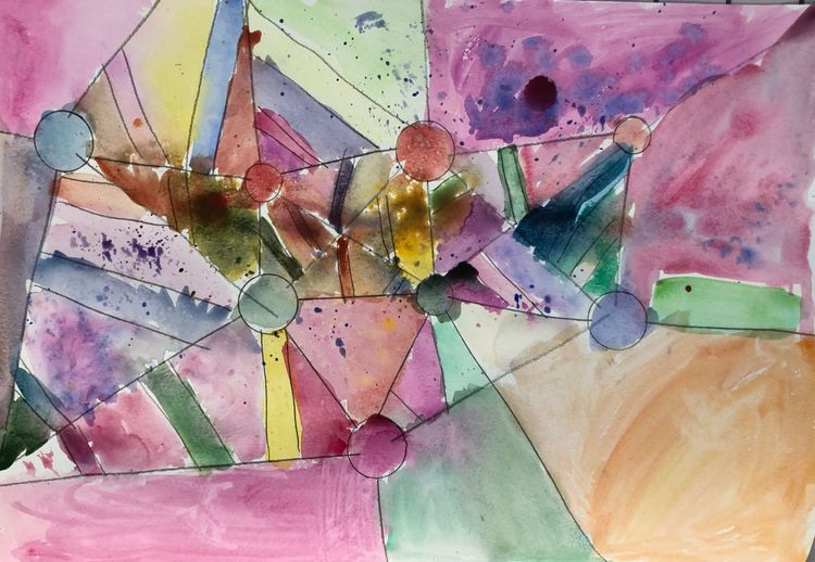 Kandinsky inspired watercolour 2