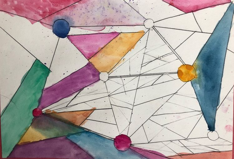 Kandinsky inspired watercolour 10