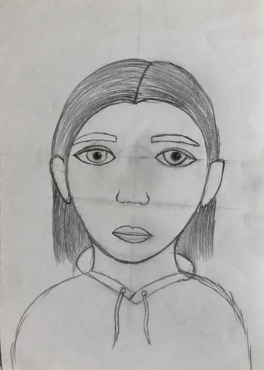 Portraits, facial proportions 1
