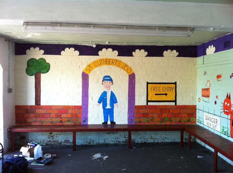 Mural, St Cuthbert's Primary, South Ayrshire