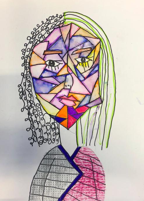 picasso inspired self portrait art club