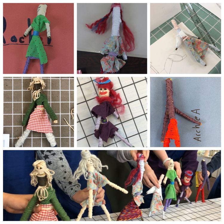 Worry doll collage 4