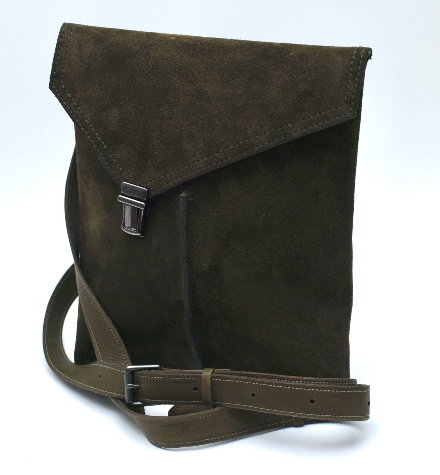 Olive Green Suede. £85.00