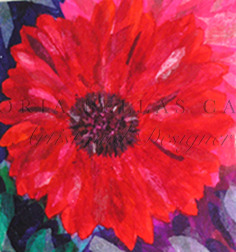 'Amour' Original Tissue Paper Collage On Canvas. SOLD