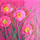 'Elegantly Pink' Original Tissue Paper Collage On Canvas. SOLD