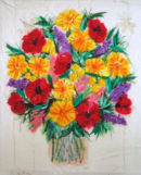 'Flowers For Margaret' Original Framed Artwork. SOLD