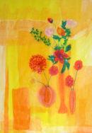 'Fortune Flowers'  Original Framed Art Work.