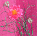'Pink Elegance' Original Tissue Paper Collage On Canvas. SOLD