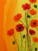 'Poppy Love'  Original Framed Art Work SOLD