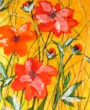 'Sulphureus Sunset' Original Tissue Paper Collage On Canvas. SOLD