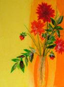 'Summer Dahlia Dazzle'  Original Framed Art Work. SOLD.