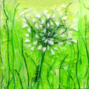 'A Fresh Start' Original Tissue Paper Collage On Canvas. SOLD.