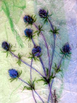 'Always A Pleasure' Original Tissue Paper Collage On Canvas. SOLD