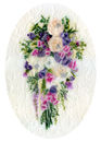 'An Enduring Memory of Love,' original tissue paper collage on oval shaped canvas, SOLD.