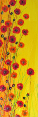 'Bright And Bubbly'  Original Tissue Paper Collage On Canvas (unframed) SOLD