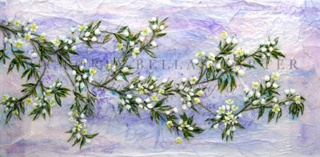 'Eternal Love,' Original Tissue Paper Collage On Canvas. Framed price £645. Unframed price £550.