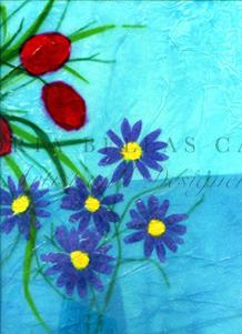 'Floral Fantasy' Original Framed Artwork. SOLD.