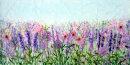 'Garden Joy,' Original tissue paper collage on canvas. SOLD