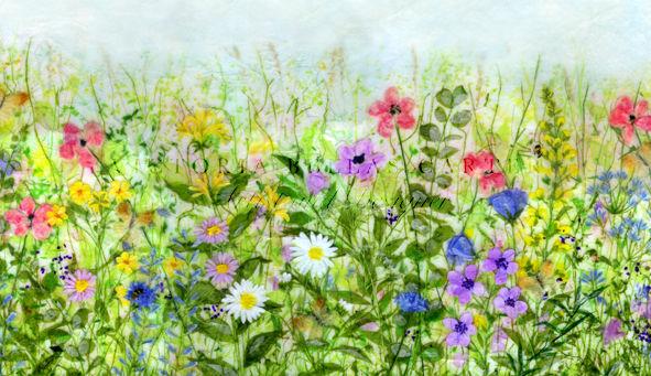 'Golden Memories,' Original tissue paper collage on canvas. SOLD