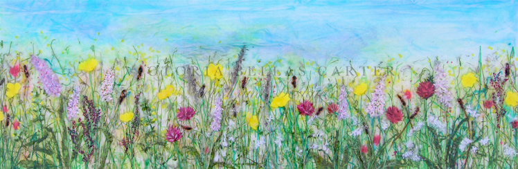 'Hay Meadow' Limited edition print, professionally mounted and framed, price £185