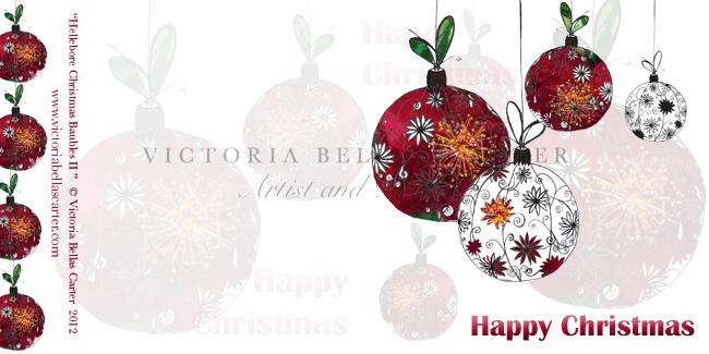 'Hellebore Christmas Baubles II'