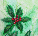 'Holly Holly Christmas' Original Tissue Paper Collage On Canvas. SOLD