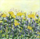'Liz's Rose Garden,' Original tissue paper collage on canvas, SOLD.