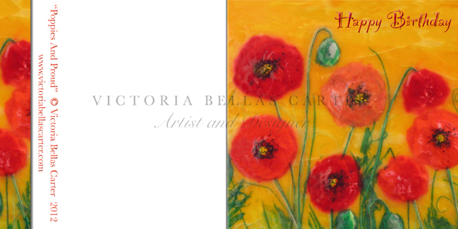 Happy Birthday' Poppies and Proud'