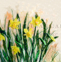 'Spring Promises' Original Tissue Paper Collage on canvas SOLD