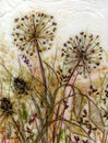 'Through the Mist,' original tissue paper collage on canvas, unframed price £70.