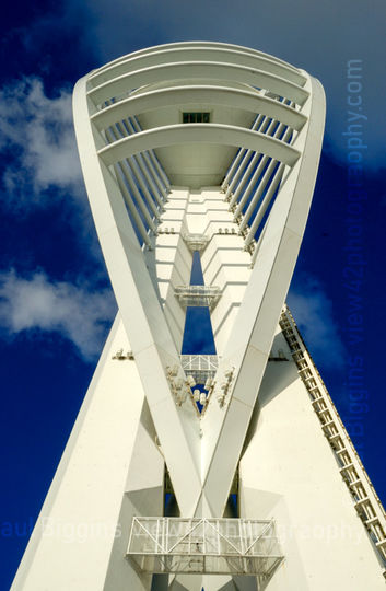 """Spinnaker Tower, Portsmouth, 16"""" x 12"""" incl. mount: £20"""