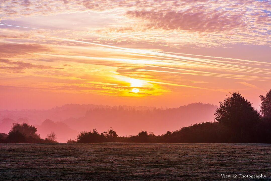 Sunrise at Godshill (Cricket Pitch)