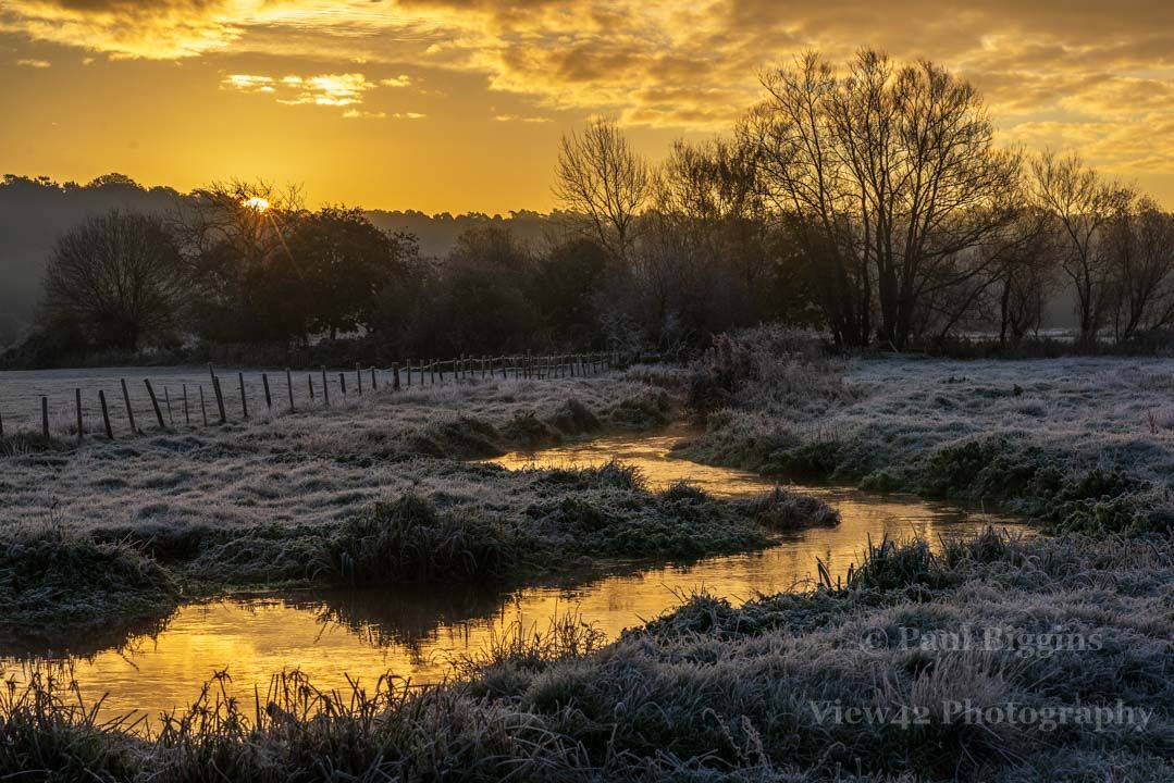 River of Gold at Sunrise, Avon Valley