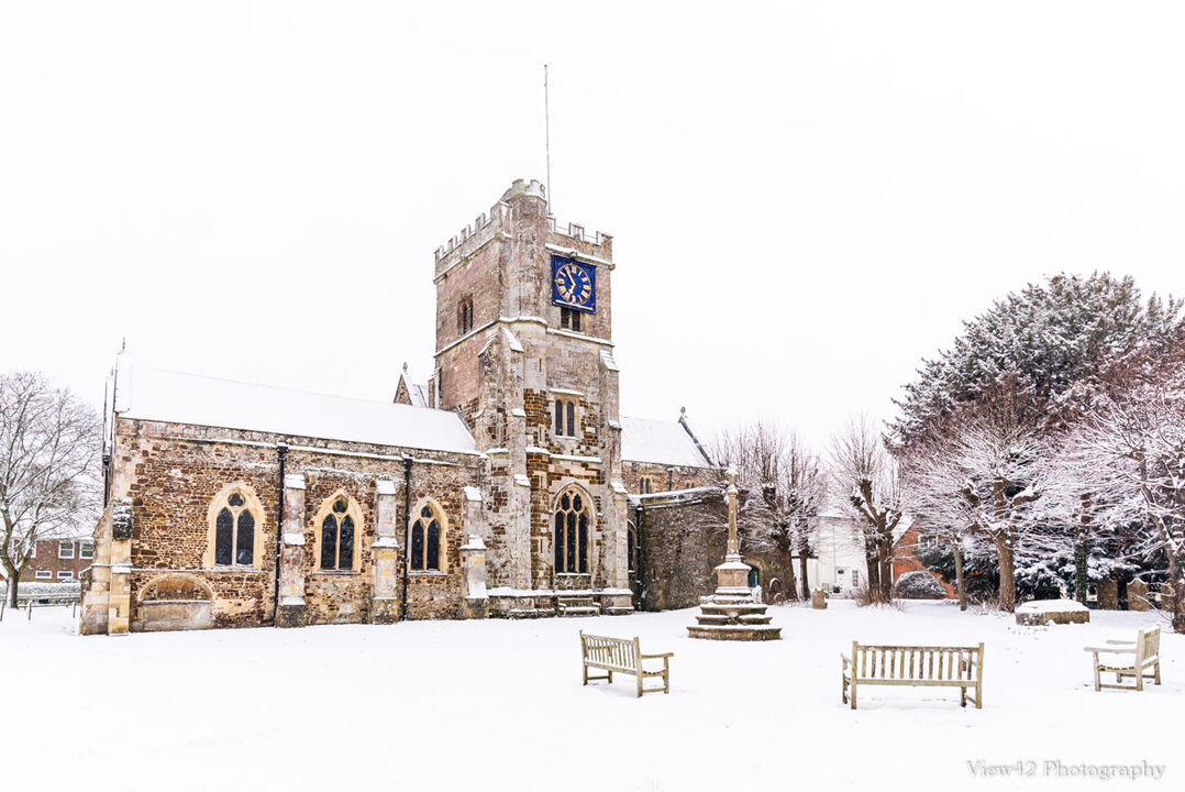 """St Mary's, Fordingbridge, A3+ with 24"""" x 18"""" incl. mount, fine art paper. Limited Edition. £40"""